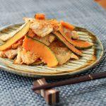 豚とカボチャの生姜焼き