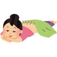 鍼灸治療を受ける女性